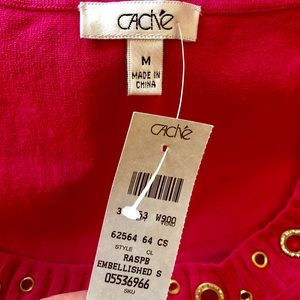 Cache Tops - NWT Cache Pink & Gold Top - Size Medium